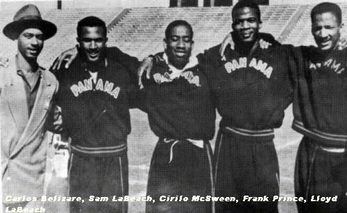 Pictured are Carlos Belizaire Busette, Sam LaBeach, Cirilo McSween, Frank Prince and Lloyd La Beach
