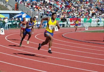Recent 400 meter run (men) at the Bolivarian Games