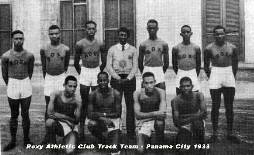 This is an early shot of the Roxy Athletic Club in Panama.  About 1933.