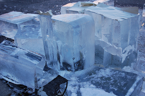 The gift of ice in the tropics and the ice man was a welcome sight.