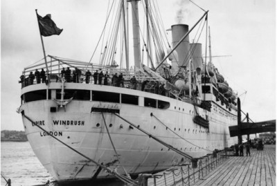 The Windrush with a boatload of West Indian Immigrants headed for the United Kingdom.  Image thanks to The Windrush Foundation
