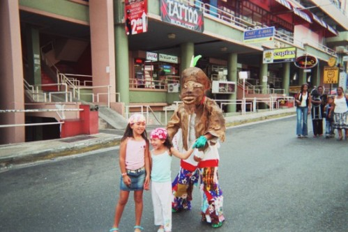 Here I am making my small contribution to the Carnaval in Panama City. Dressed in my Diablito costume that I made at home, I tried to liven things up on Via Venetto. 2006