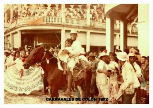 A scene from Colon Carnaval in 1972. Image thanks to our friends at Colón de Ayer.