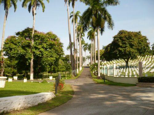Entrance to Corozal Cemetery Panama.
