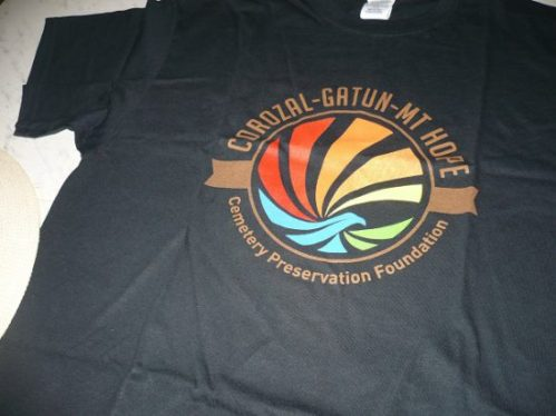 Tee shirts and caps for sale as part of CGM's fundraising program.
